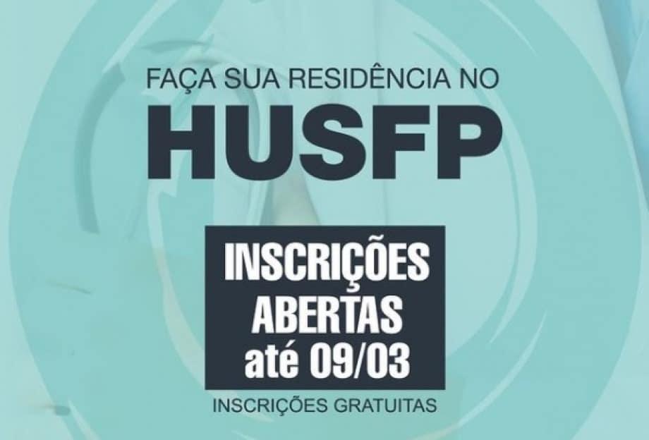 HUSFP abre inscrições para residência médica em diversas especialidades